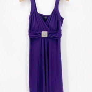 En Focus Studio Womens Faux Wrap Dress Purple 16